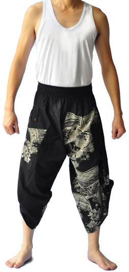 Hakama japanese clothes for men thai fisherman pants Japanes