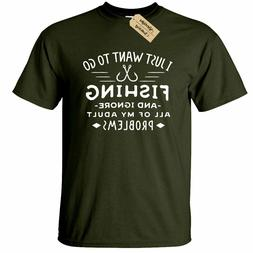 I Just Want To Go Fishing T-Shirt Mens fisherman gift anglin