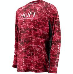 HUK Icon Camo Men's L/S Fishing Boat Fish Clothing T-shirt..