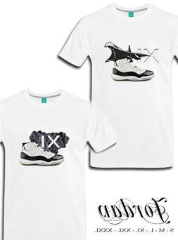 "Jordan 11 T-Shirt White Size S-XXXL Luxury Apparel ""Concord-"