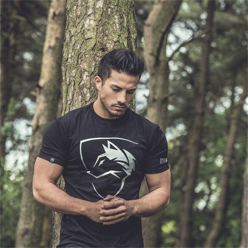alphalete gym workout t shirt men muscle