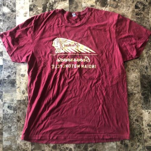 apparel mens short sleeved indian motorcyclet shirt