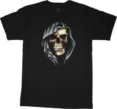 big and tall t shirt hooded skull