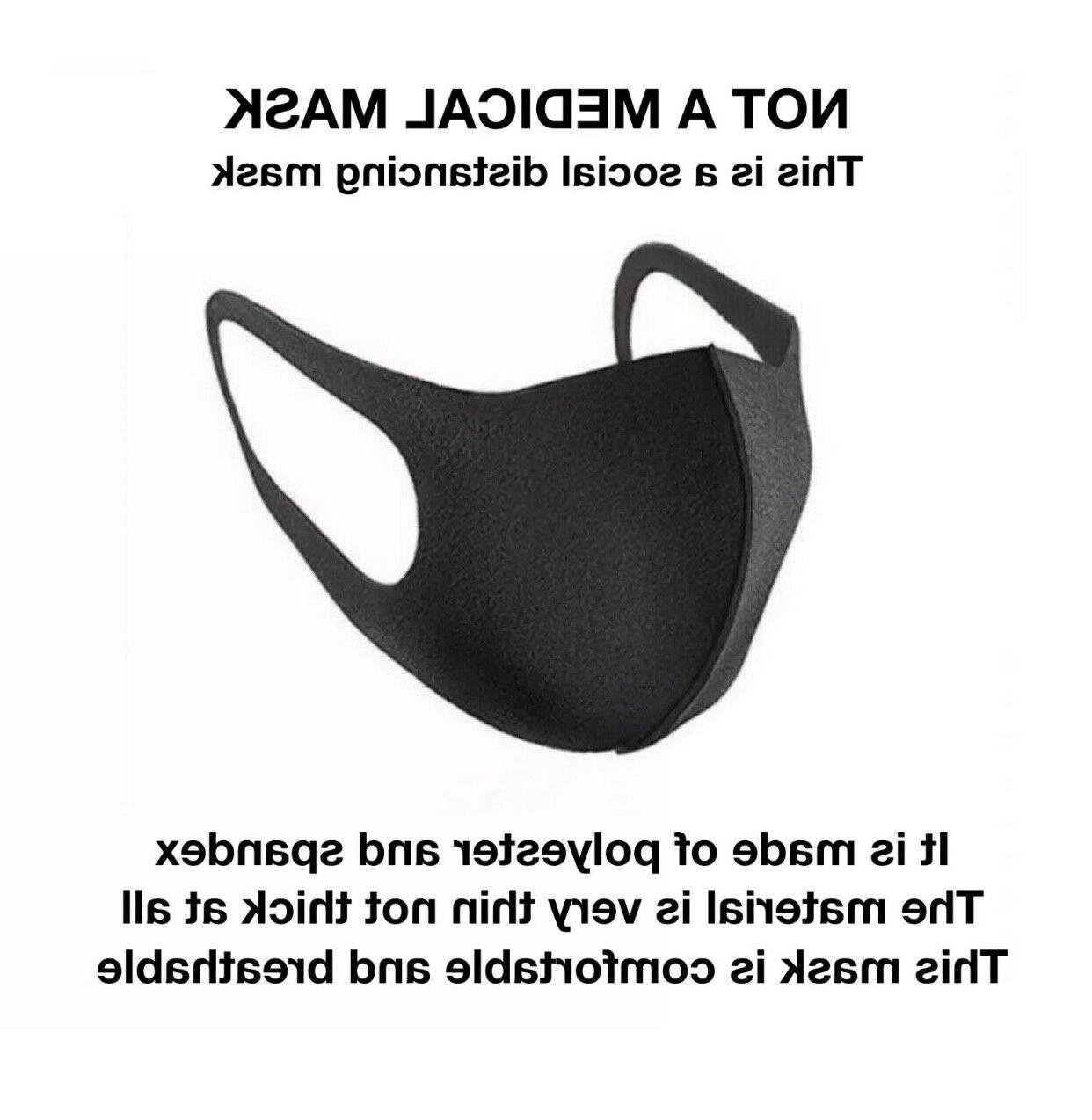 Black Mask Fashion Unisex Washable Cover Mask USA