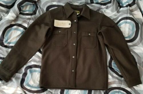 clothes melton wool shirt jacket 38 japan