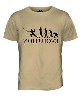 fencing evolution of man mens t shirt
