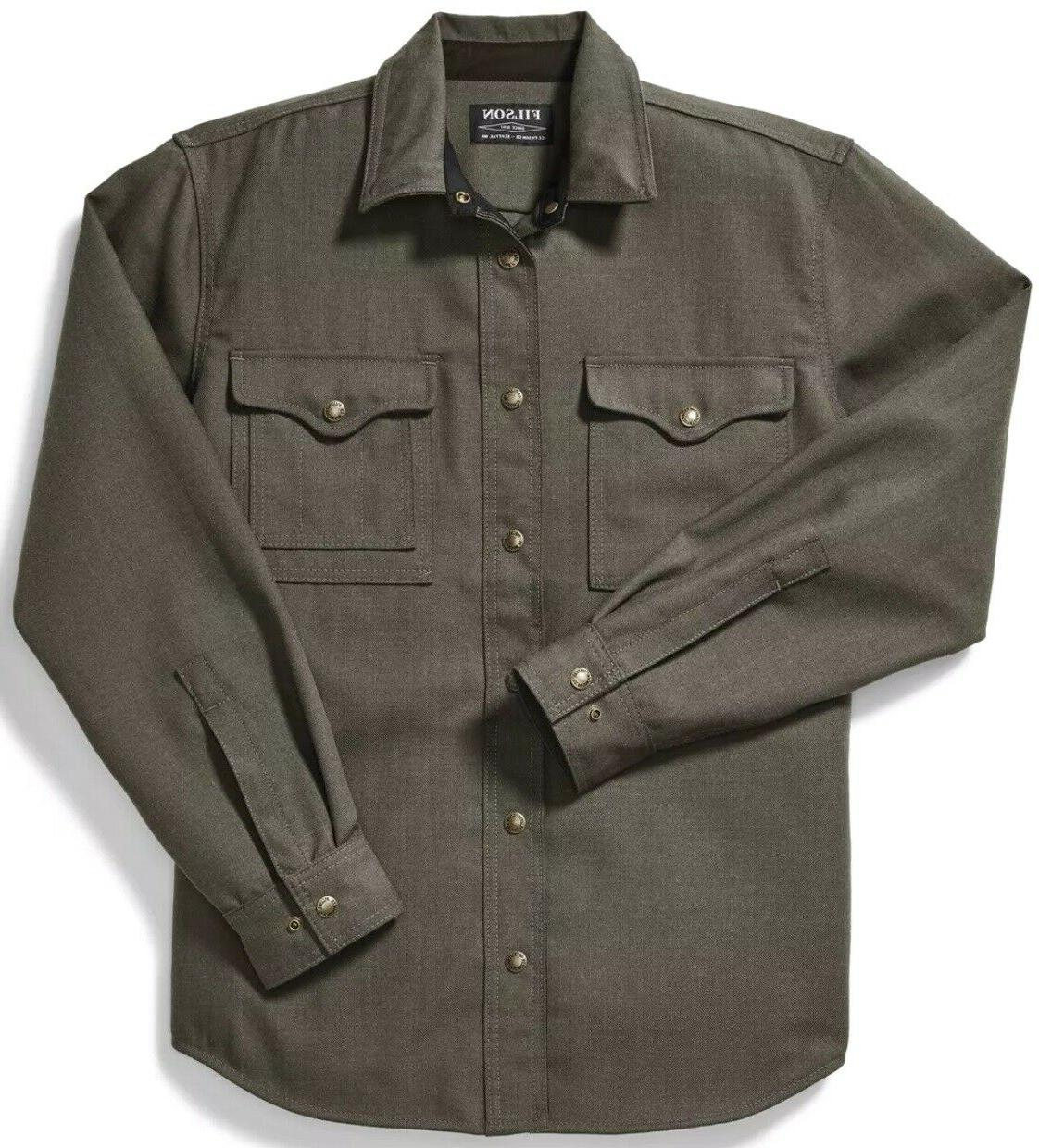 forestry cloth jac shirt field green 100