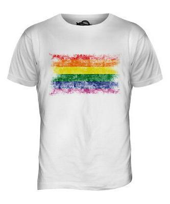 gay pride distressed flag mens t shirt