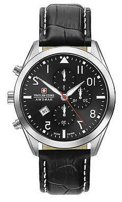 Swiss Military Hanowa Helvetus Chrono Quartz Watch Leather S