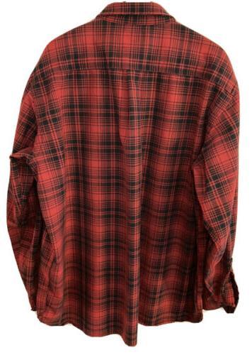 L.L.BEAN Flannel Red/Black - Sz