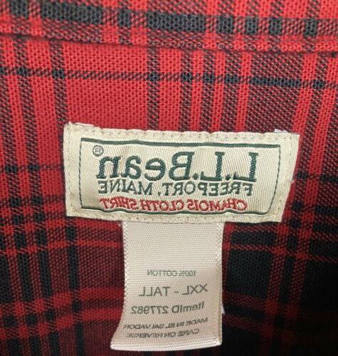 L.L.BEAN Men's Chamois Flannel Shirt Plaid - Sz