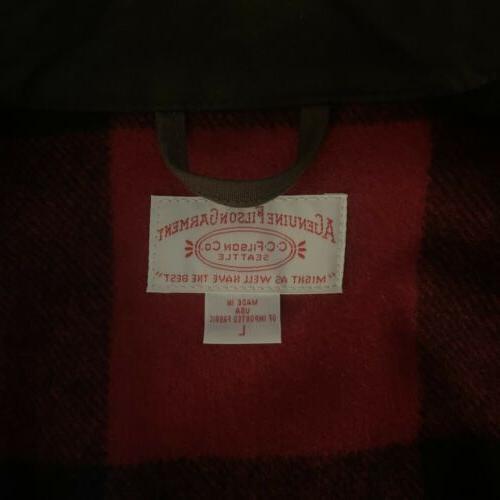 Filson Lined Ranch Mackinaw Plaid Tin Cloth