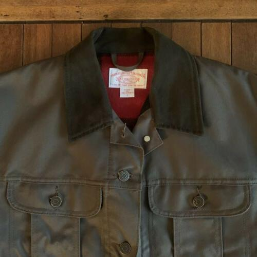 Filson Jacket Dark Brown Men's Mackinaw Buffalo Cloth