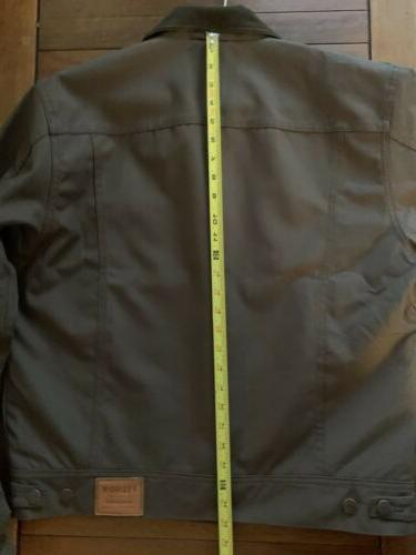 Filson Lined Dark Brown Mackinaw Buffalo Cloth