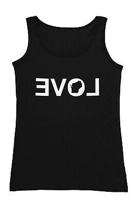 love wisconsin men s tank top sleeveless