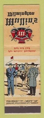 Matchbook Cover - Mullin's Men's Clothes Wilmington DE featu