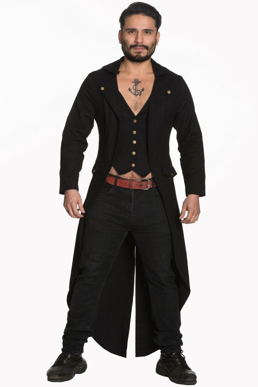 men s black steampunk gothic victorian tailcoat