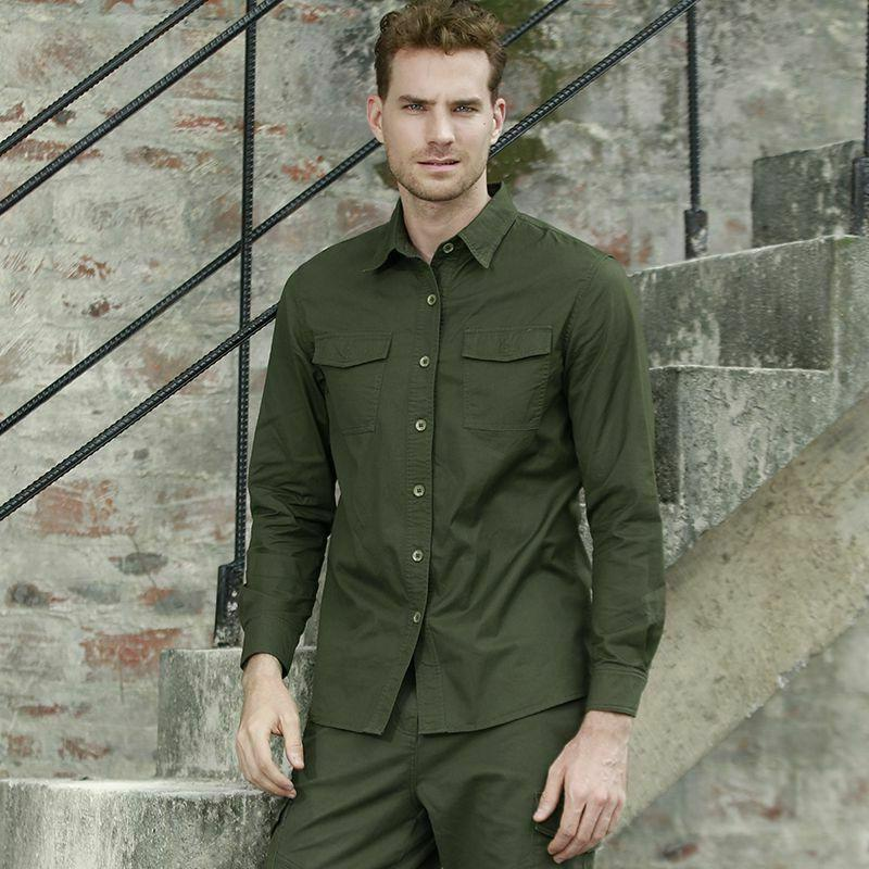 men s casual shirts clothes twill cotton