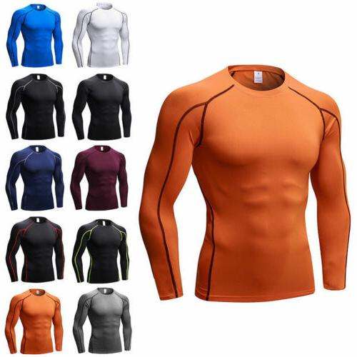 Men's Base Top Long Sleeve Sports Fitness Shirt