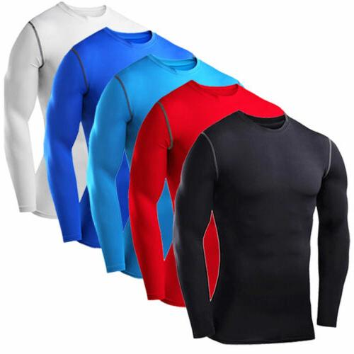 Men's Compression Top T-shirt Thermal Long Sleeve Under