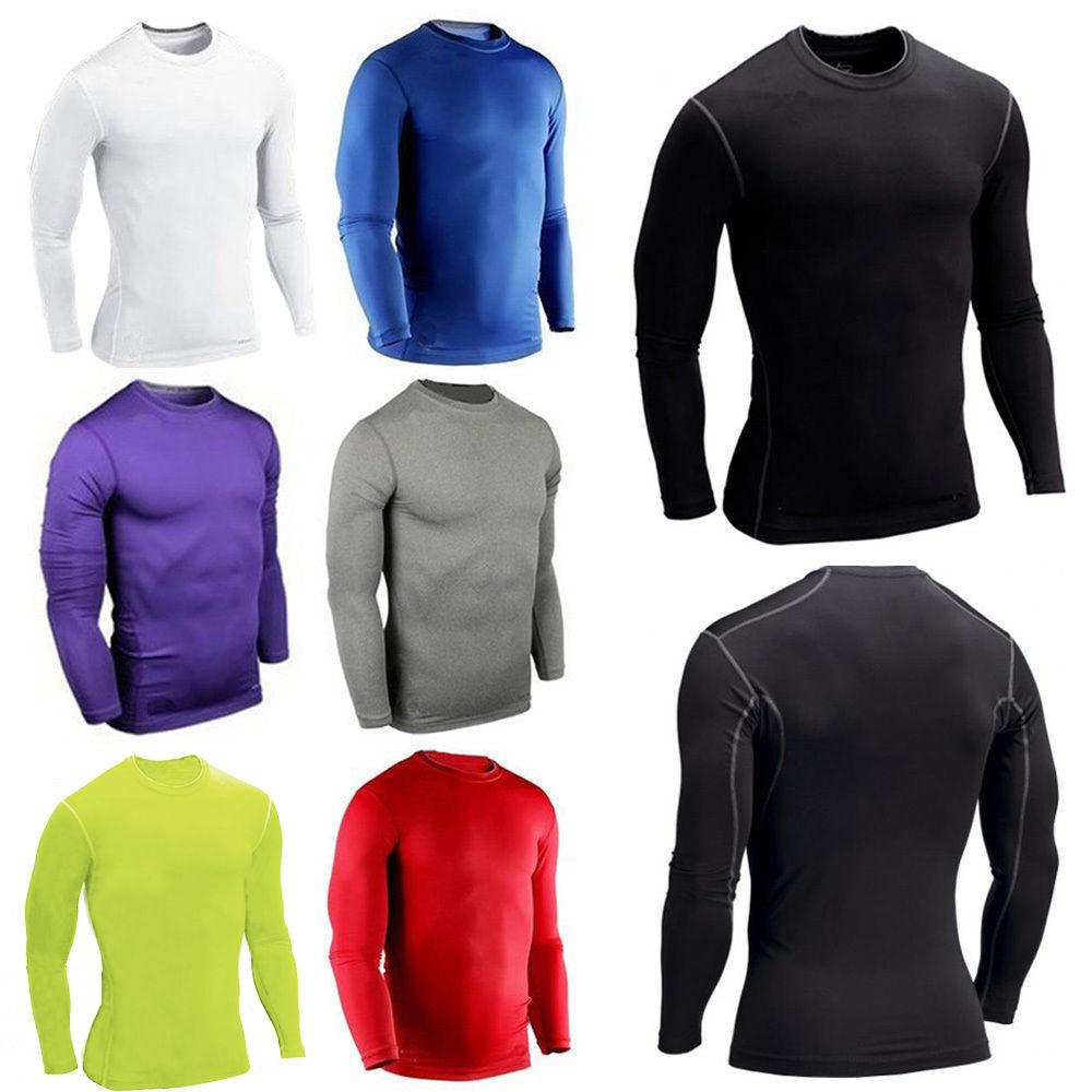 Men's Compression Base Top T-shirt Thermal Sleeve Shirt