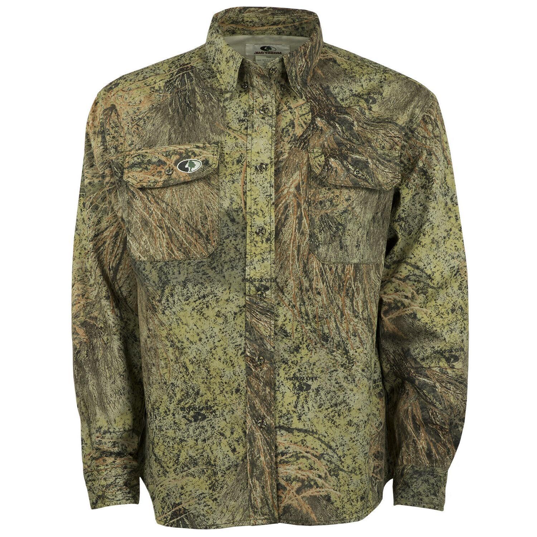 men s cotton mill camo hunting shirt