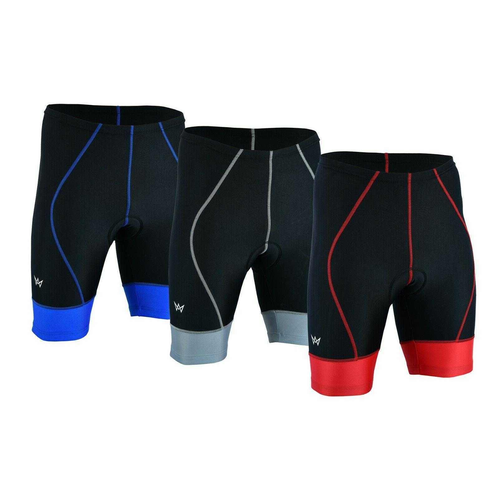 men s cycling cool max padded compression