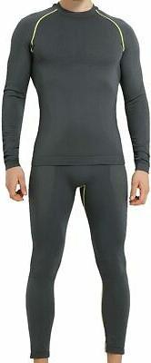 YOOY Men's Winter Gear Ski Thermal Underwear Sets Long Sleev