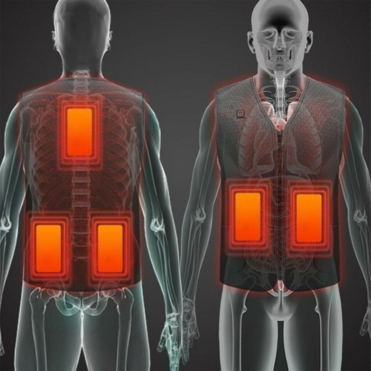 Men Womens Electric Heated Jacket Warm Heating Body
