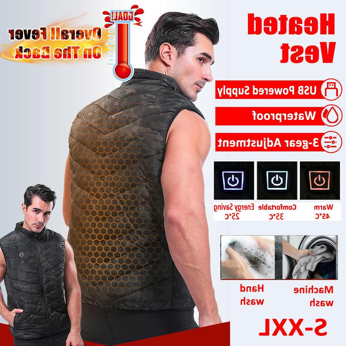 men womens electric vest heated cloth jacket