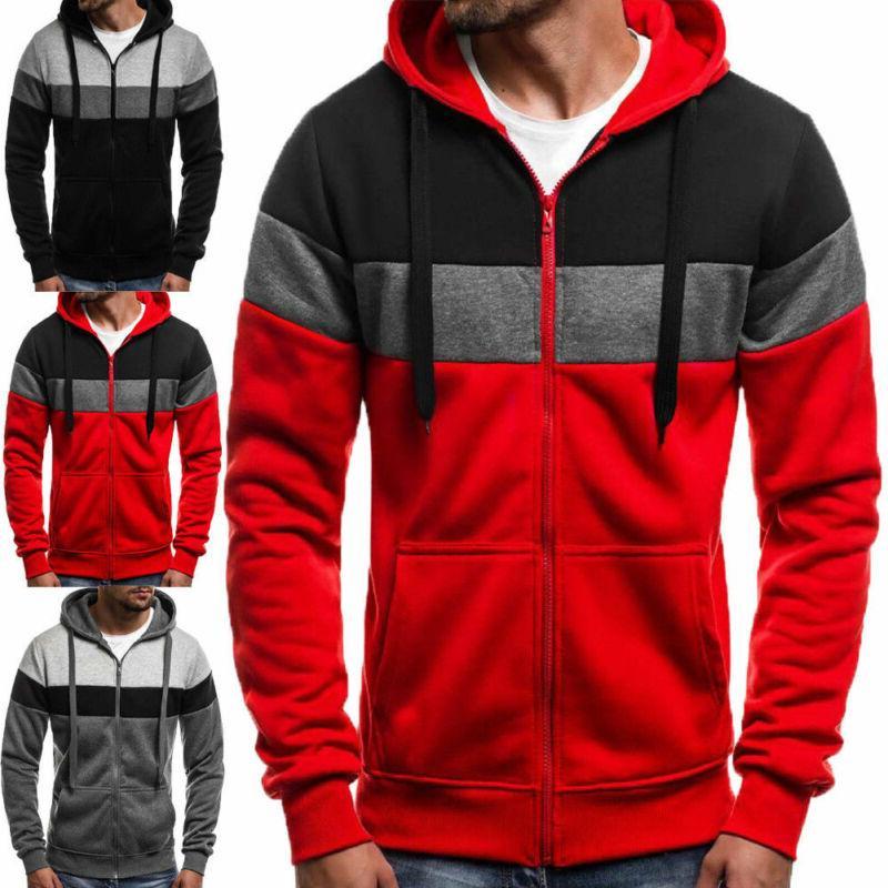 Mens Zipper Hooded Winter