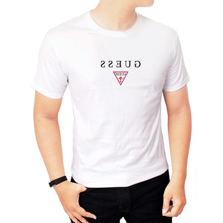 new clothing men s logo guess6543 white