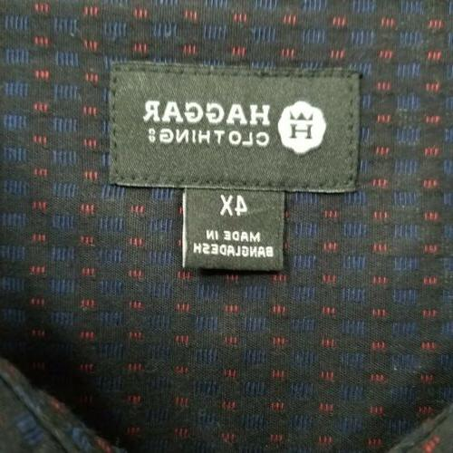 NWOT Button-Up 4X Blue Embroider