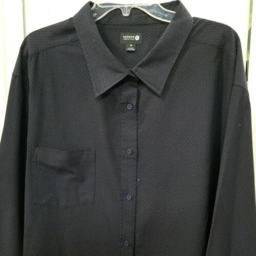 NWOT Haggar Clothing Button-Up Collared Shirt 4X Blue