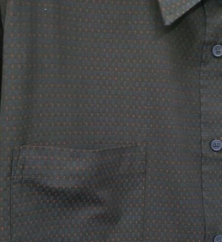 NWOT Haggar Button-Up Shirt Blue & Embroider