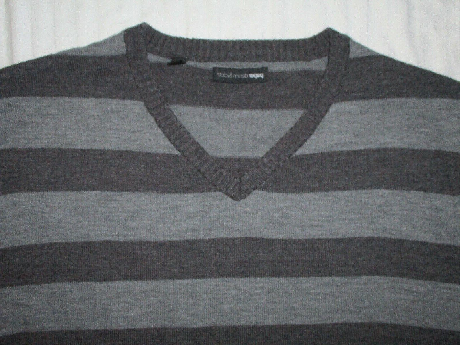 NWOT & Cloth V Pullover Sweater Shirt Stripes