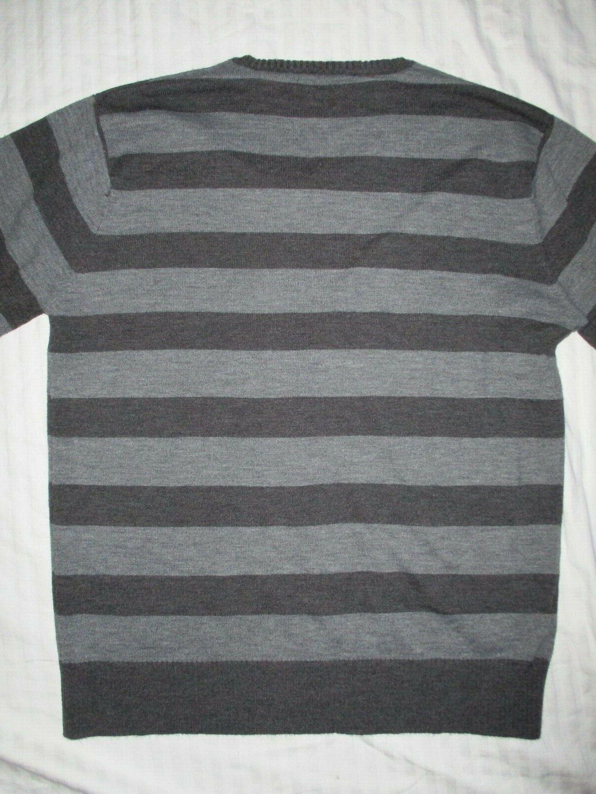 NWOT & Cloth Pullover Gray Stripes M
