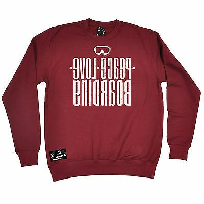 peace love boarding powder monkeez sweatshirt jumper