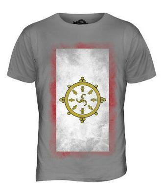 sikkim faded flag mens t shirt tee