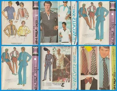 vintage sewing pattern mens clothes accessories mccall