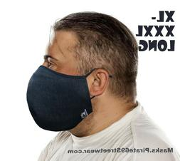 LARGE Face Mask XL Big Men Denim Handmade Cloth Beard washab