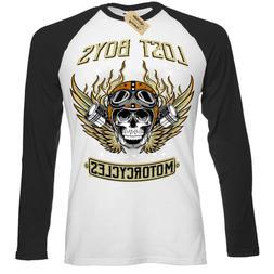 Lost boys Motorcycles T-Shirt biker clothing skull Mens Base
