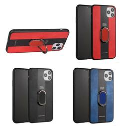 Man Leather Cloth Holder Ring Phone Case Cover For iPhone X