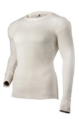 Indera Men's Maximum Weight Thermal Underwear Top, Natural,