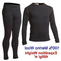Men 100% 400 g Merino Wool Outdoors Winter Sweater Thermal W