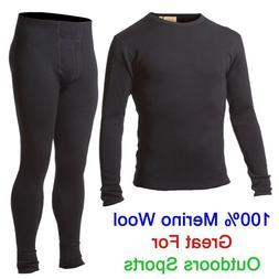 Men 100% Merino Wool Outdoors Sport Base Layer Thermal Warm