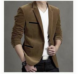 Men Blazers Autumn Spring Fashion Male Slim Fat Casual Suit