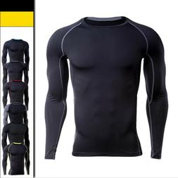 Men Compression Fitness Apparel Thermal Base Workout Running