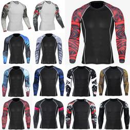 Men Compression Under Thermal Base Layer Workout Running Fit
