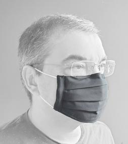 Men Cotton Cloth Face mask - handmade in USA, 2 sides, NOSE